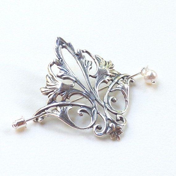 Delightful Fleur De Lis Shawl Pin, Fleur De Lis Scarf Pin, Silver Shawl Pin, Hair  Slide, Oxidized, Fall Fashion, Antique Design, Victorian