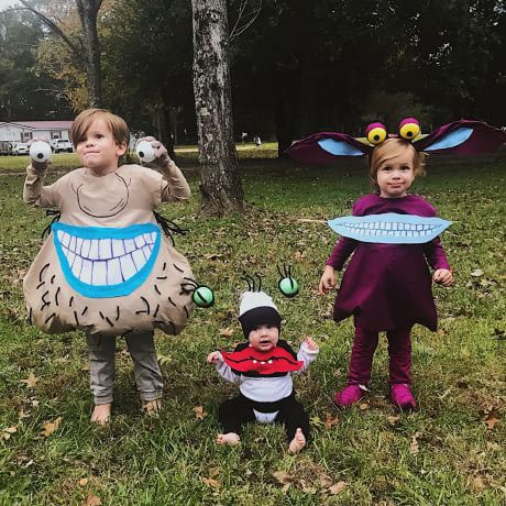 My wife made our kids' Ahh Real Monsters costumes
