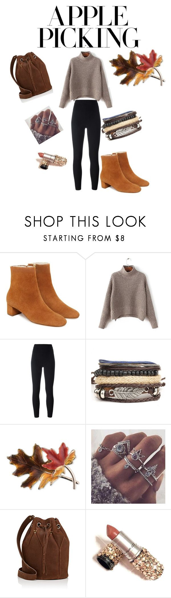 """""""warm and cozy apple picking"""" by aimer-la-mode ❤ liked on Polyvore featuring Yeezy by Kanye West, Anne Klein and Jérôme Dreyfuss"""