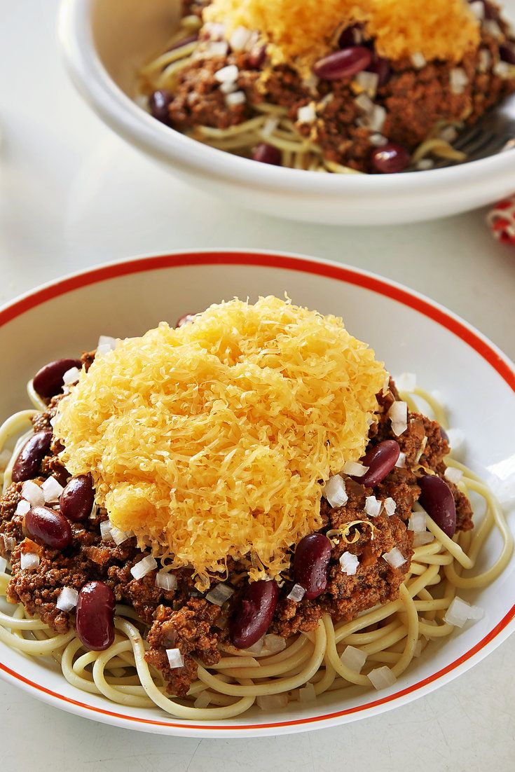NYT Cooking: This recipe for Cincy's classic chili is an adaptation of one found in the International Chili Society's ''Official Chili Cookbook'' by Martina and William Neely. In this version, unsweetened chocolate adds depth, and a splash of vinegar lends a pleasant tang that cuts through the richness. Craig Claiborne and Pierre Franey brought it to The Times in 1981, and we've updated%...
