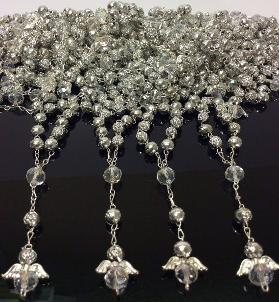 25 pcs Angel silver First communion favors by AVAandCOMPANY