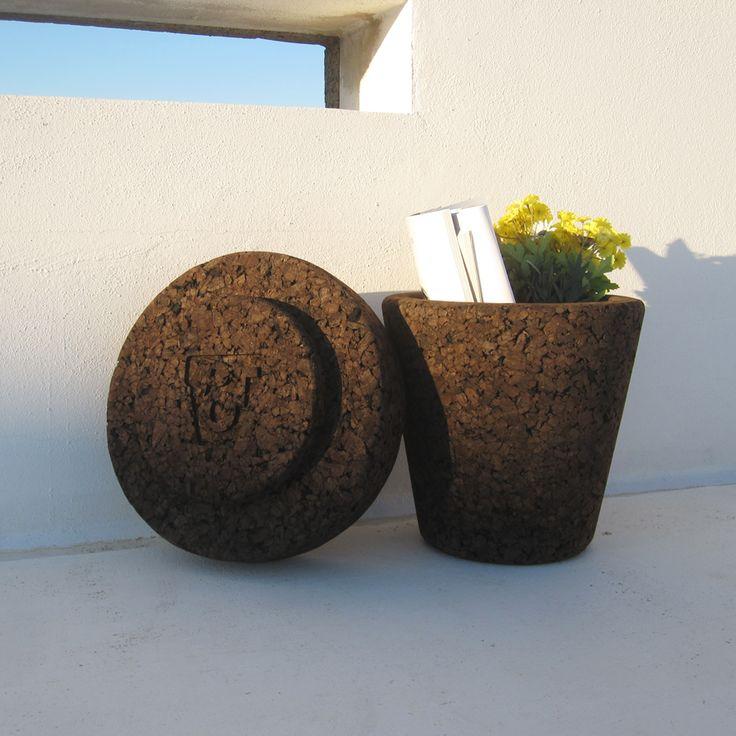 """#POT - """"Plant on Top"""", a 100% #natural #stool. Find it out: www.varasverdes.com #varasverdes #lisbon #portuguesedesign #naturalstool #naturaldesign  #sustainabledesign  #cork #eco #ecodesign #ecorkhotel"""