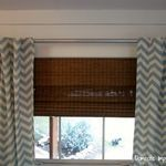 DIY Bay Window Curtain Rod & Back Tab Curtains — Domestic Imperfection