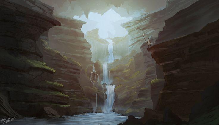 Rocks Waterfall