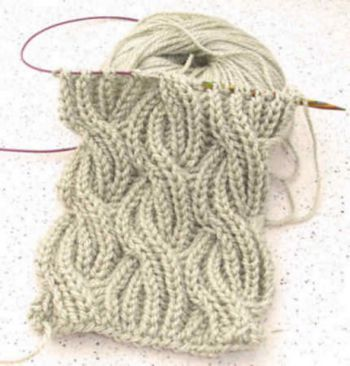 Как вязать шарф в технике Бриошь. Вязание спицами.