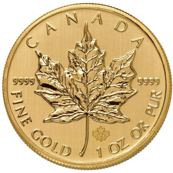 Buy Canadian Gold Maple Leafs 1 oz .9999 Pure | JM Bullion™$1,270.51