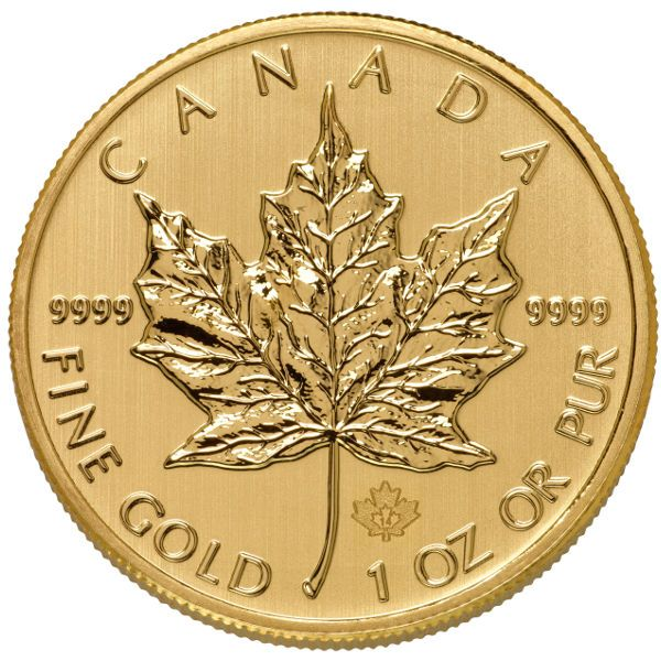Buy 1 oz Canadian Gold Maple Leafs online, .9999 pure in Brilliant Uncirculated condition (varied year). FREE Shipping on ALL Orders. Immediate Delivery.