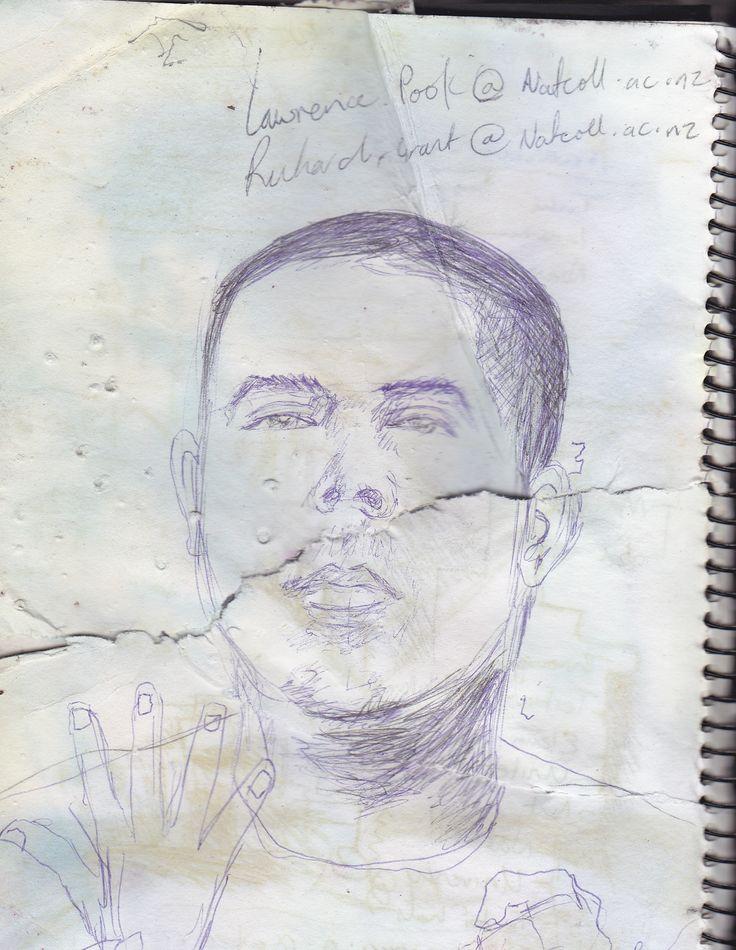 Andy Hughes.  Quick sketch with Biro pen.