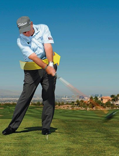 """According to Butch Harmon, a quick fix to the dreaded hook is to spend some time on the driving range hitting drives at only half. This moves the player away from an overly fast arm swing. """"Practice swinging your arms a little slower and turning your body more aggressively to the finish. Make sure you transfer your weight to your front foot coming down and turn your lower body to face the target. Get your hips turning all the way through, and you'll stop the face from snapping closed on the b..."""