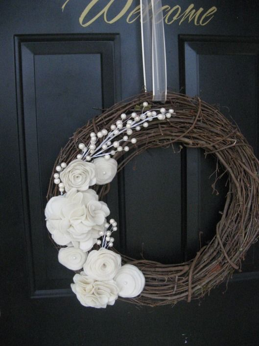 beautiful wreath with tutorial