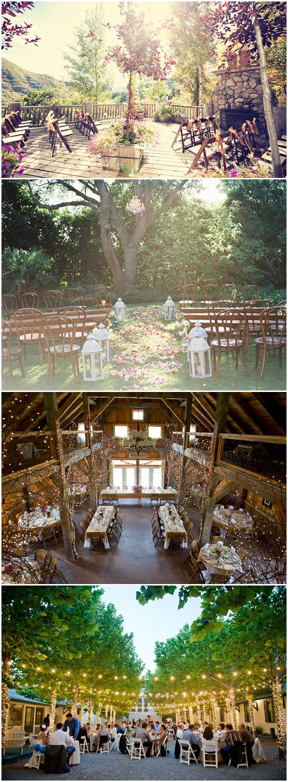 Beautiful outdoor wedding space(s).