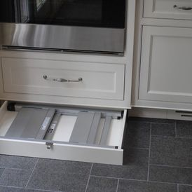 Toe Kick Drawer For Step Stool Since Cabinets Will Be