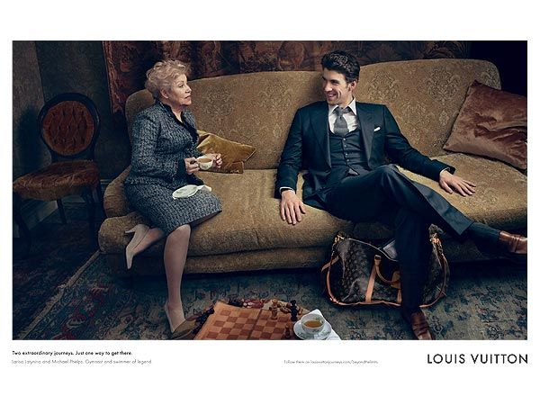 Michael Phelps for Louis Vuitton - He's darling in clothes! Who knew?