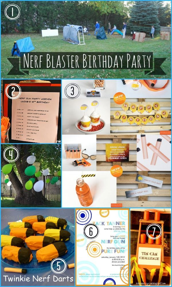 Everything you need to plan and execute a super fun and super easy Nerf birthday party for the Nerf blaster fanatic in your life!