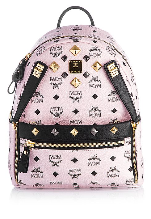 MCM Rucksack Dual Stark Small Rosa gesehen @ www.sailerstyle.com