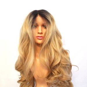 """Wonda Wigs Synthetic Hand Tied Heat Resistant Lace front  26""""  This is a stunning wig with thick gorgeous waves. Realistic colouring and texture. The fibre on this wig, acts like human hair, it falls into place naturally. Absolutely beautiful when it is brushed out."""