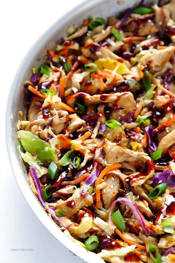 Learn how to make restaurant-quality Moo Shu Pork (or Moo Shu Chicken!) at home in just 20 minutes. So easy, so fresh, and soooo good!   gimmesomeoven.com