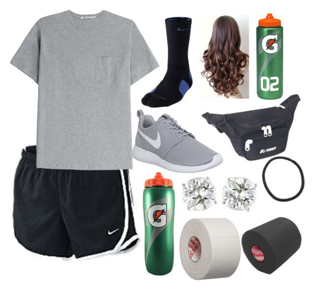 """Student Athletic Trainer: A Day In Our Lives"" by macmarie ❤ liked on Polyvore featuring NIKE, T By Alexander Wang and Everest"