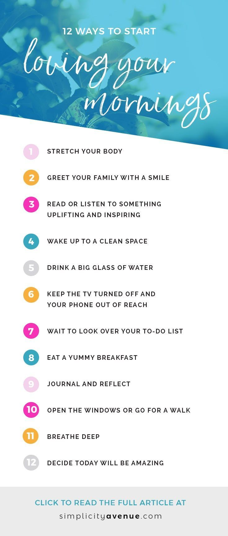 Simple ways to bring joy to your morning routine. Today's a new day. Make it amazing!