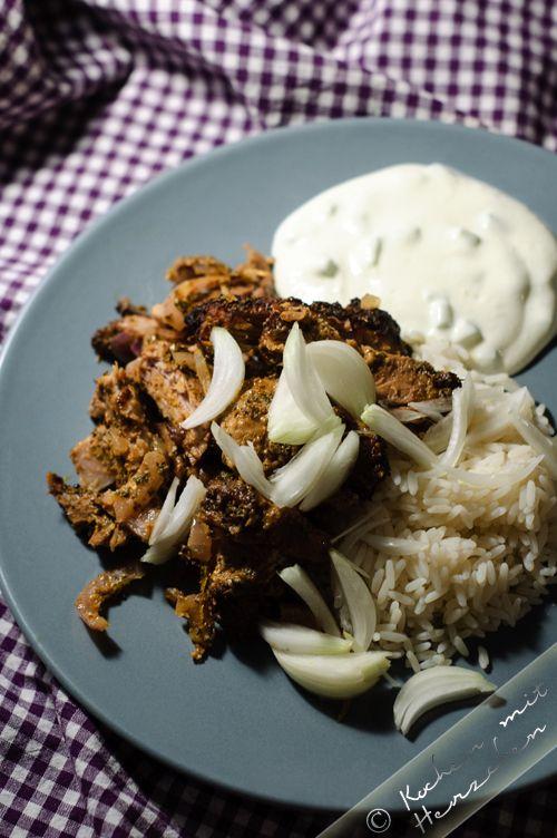 Kochen mit Herzchen - ♥ Mein Koch-Tagebuch mit viel Herz ♥: Gyros aus dem Backofen