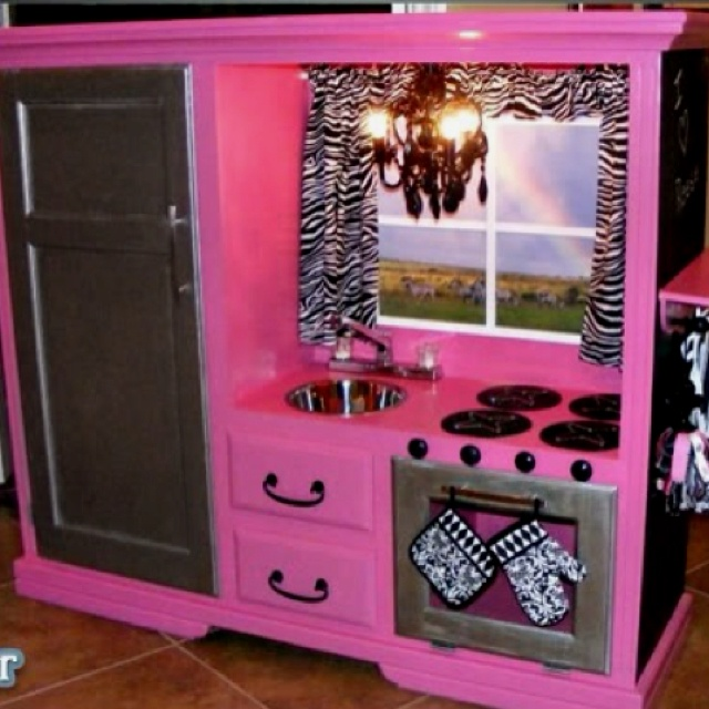 Play kitchen for a little girl play house for girls for Girls play kitchen