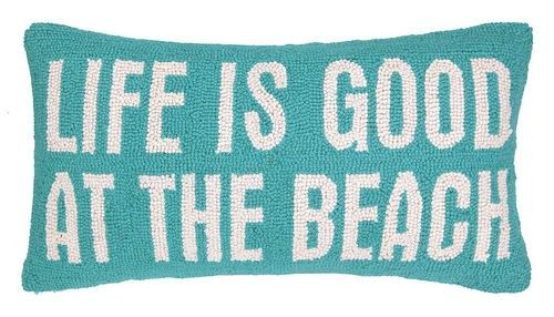 Life is Good at the Beach Lumbar Hook Pillow - LOW STOCK - CALL TO CONFIRM AVAILABILITY
