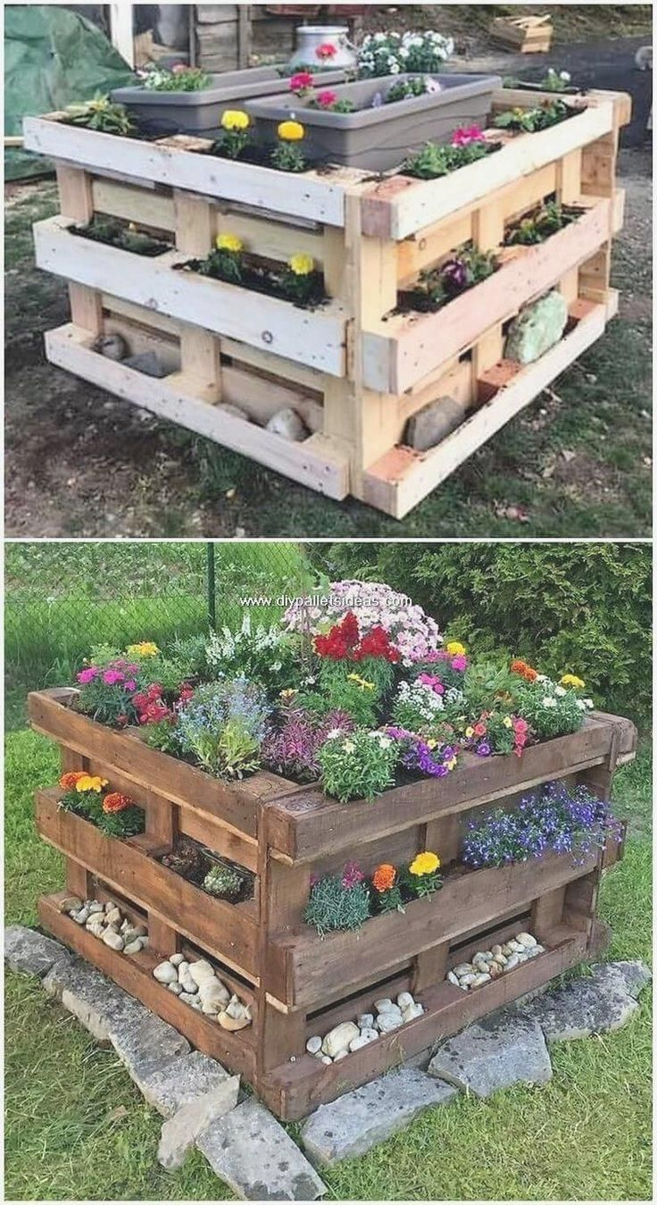 Light And Simple Craft Ideas For Wooden Pallets Diy Diygarden Garden Craft D Craft Diy Diygarden G Diy Garden Projects Pallets Garden Garden Projects