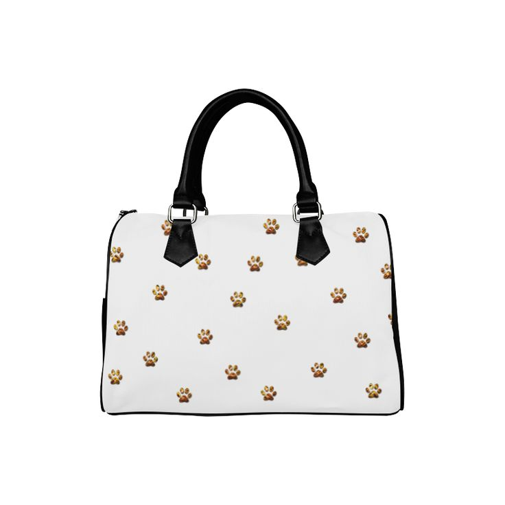 Tiger Paw Boston Handbag (Model 1621).Cute paws with Tiger pattern made in photoshop