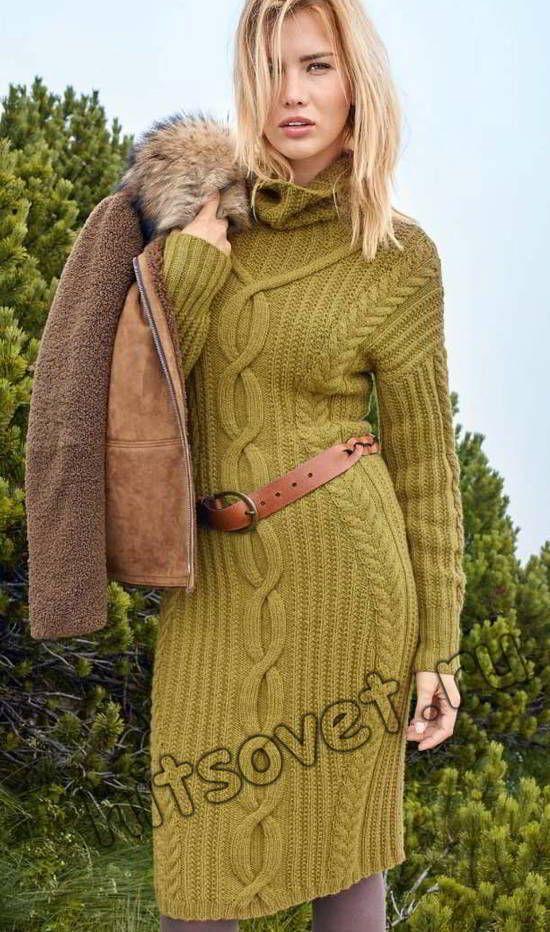 Красивое платье вязаное, фото.