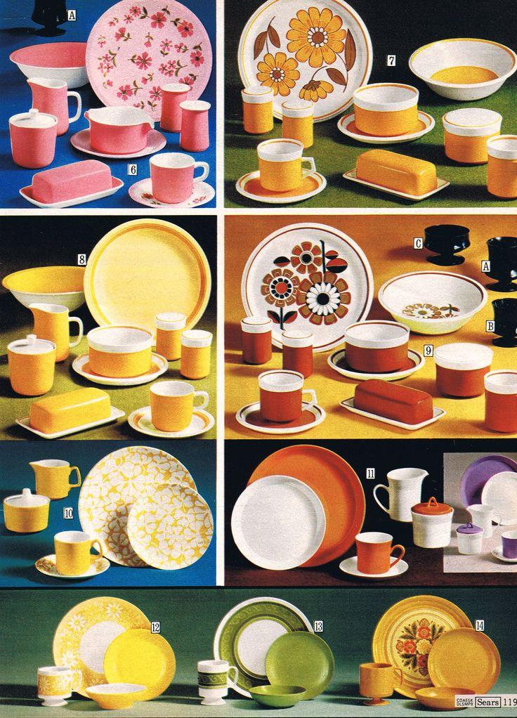70's dinnerware