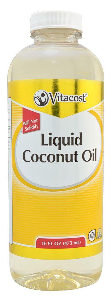 Vitacost Liquid Coconut Oil (MCT Oil with Lauric Acid) - Gluten Free and Non-GMO -- 16 fl oz (473 mL) - Vitacost