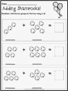 St. Patrick's Day Math and Literacy Centers with Printable Worksheets [with a FREEBIE!!] - Kindergarten