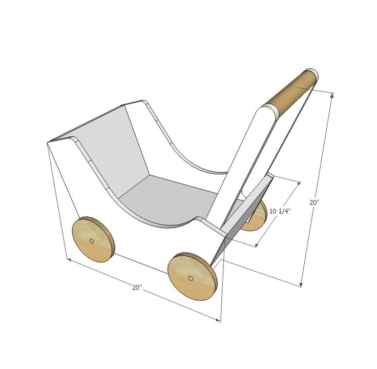 Ana White | Build a Wood Doll Pram or Stroller | Free and Easy DIY Project and Furniture Plans