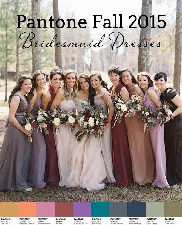 Pantone Fall 2015 Bridesmaid Dress Inspiration - Weddbook