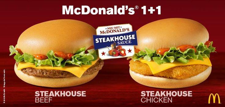 Steakhouse Beef, Steakhouse Chicken #McDonalds #Germany #SteakhouseBeef #SteakhouseChicken
