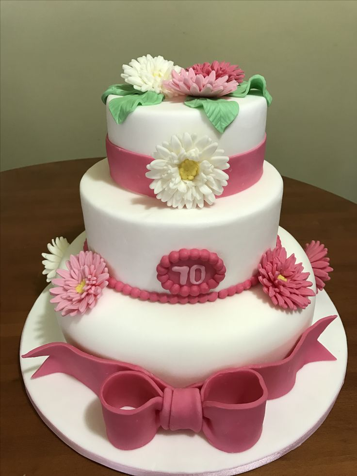 Torta con gerbere torta 70 anni
