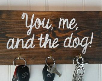 His and Hers Dog Leash Hook and Key Hooks Key Hook and by heddyj