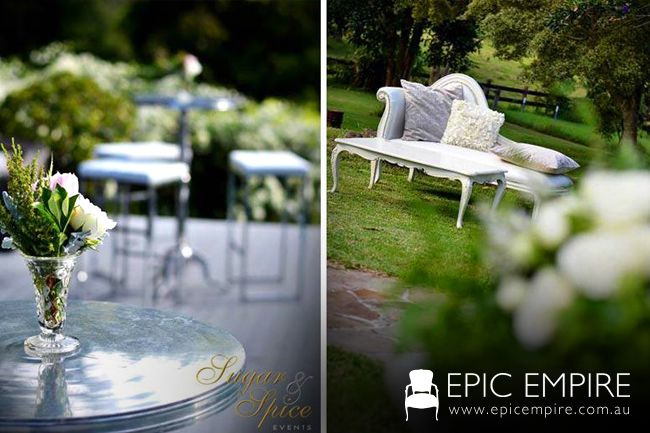 White furniture collection by Epic Empire. #byronbay #weddings #furniture #furniturehire #eventstyling #australia #brisbane #queensland