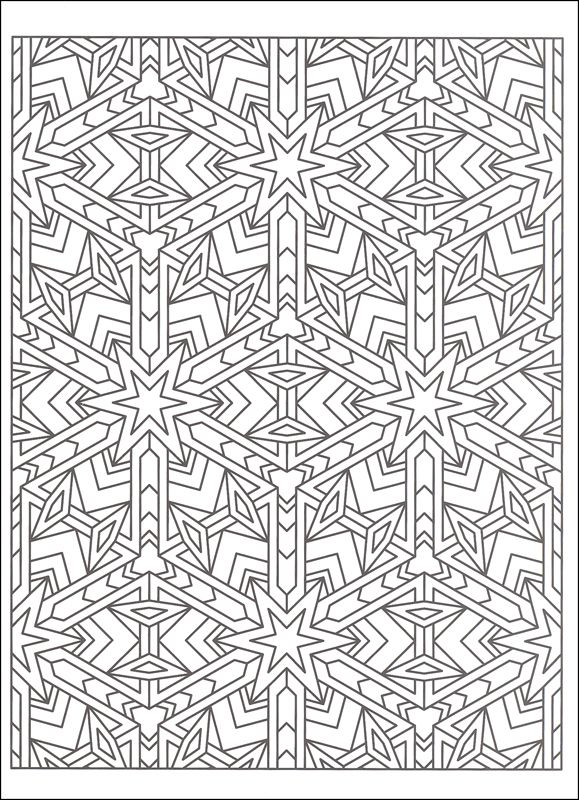 Tessellation Patterns Coloring Book | Additional Photo (Inside Page)