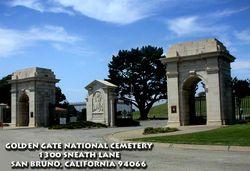 Golden Gate National Cemetery in San Bruno, California - A US Veterans Gravesites -  Carl Wesley Woodruff Ross