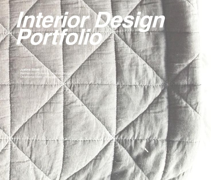 Interior Design Portfolio By Justine Elliott