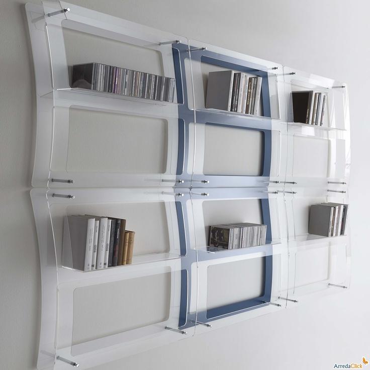 High Quality Libreria Da Parete In Plexiglass Eris   ARREDACLICK. Acrylic Furniture