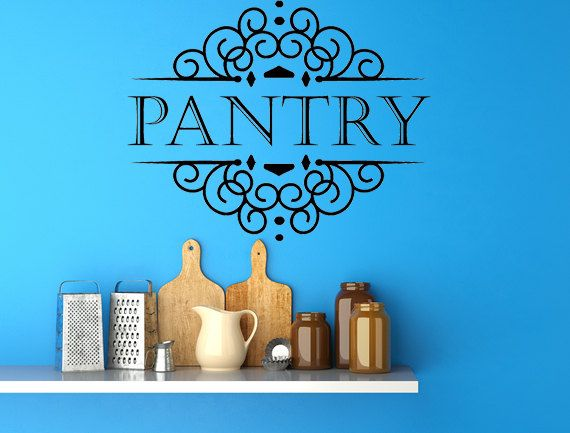 Kitchen Decor   Pantry Sign   Kitchen Wall Decal   Kitchen Wall Decor    Home Decor   Rustic Home Decor Sign   Kitchen Sign   Pantry Decal