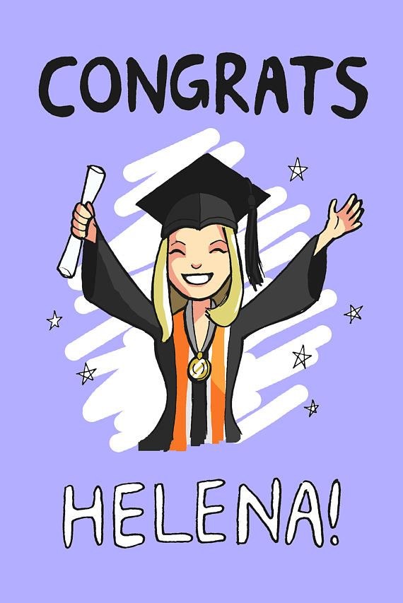 You can get a custom graduation card made as a present for a college student! Cute custom personalised cartoon portrait with university-specific robes and garments of your choice :)