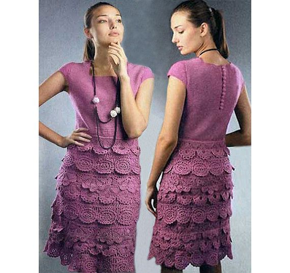 Crochet dress PATTERN, crochet cocktail dress PATTERN, party crochet dress pattern, instructions for every row, sexy crochet dress pattern.