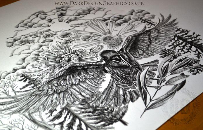 A Raven Tattoo Design - How I Create A Tattoo