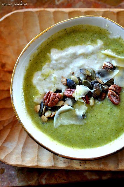 Taniec Smaków: Zupa z brokułów z kremem jaglano-serowym