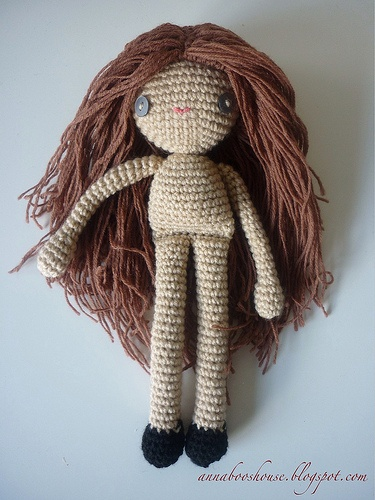 ... Hair Tute, Brown Hair, Amigurumi Dolls, Crochet Pattern, Crochet Hair