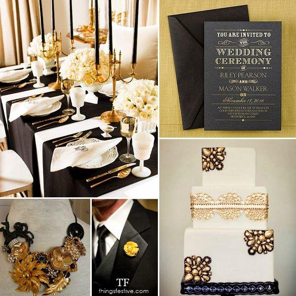 Black And Gold Wedding Decoration Ideas: 17 Best Black. Gold. Ivory/Cream Images On Pinterest