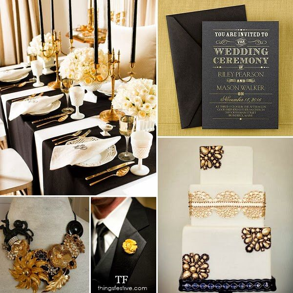Gold And Black Wedding Ideas: 17 Best Images About Black. Gold. Ivory/Cream On Pinterest